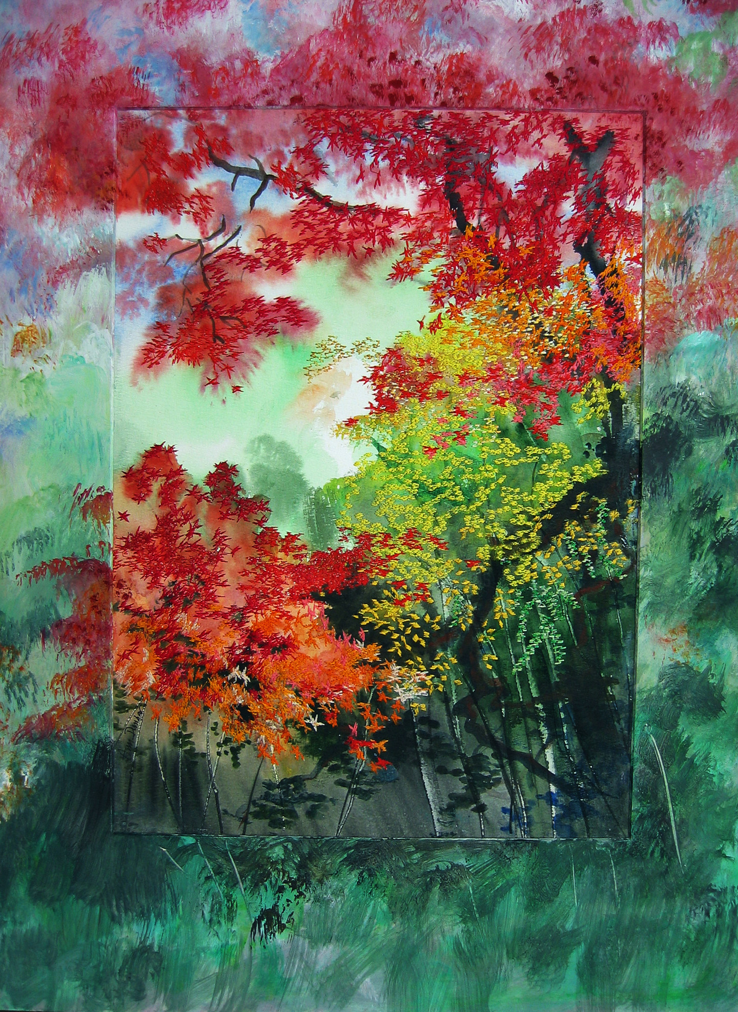 Ann Dunbar - Filtering light through the maples