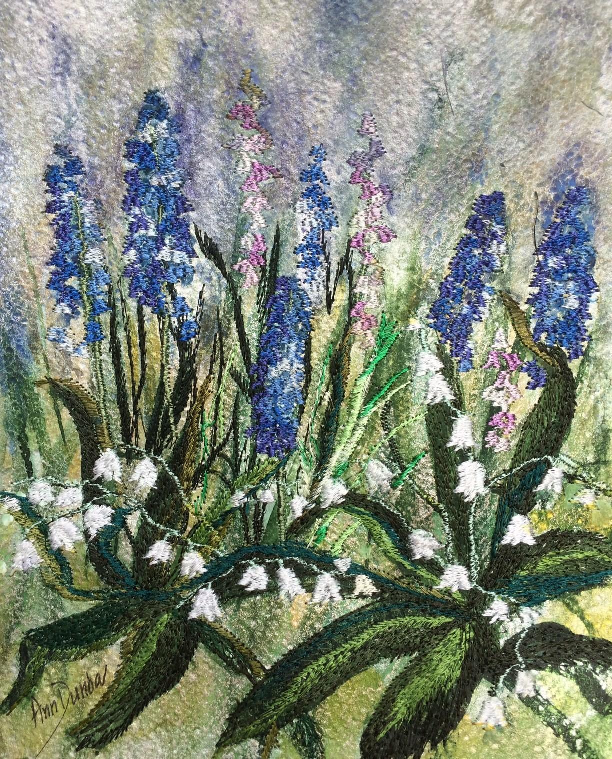 Ann Dunbar - Spring Joy: Grape hyacinth & Lily of the Valley