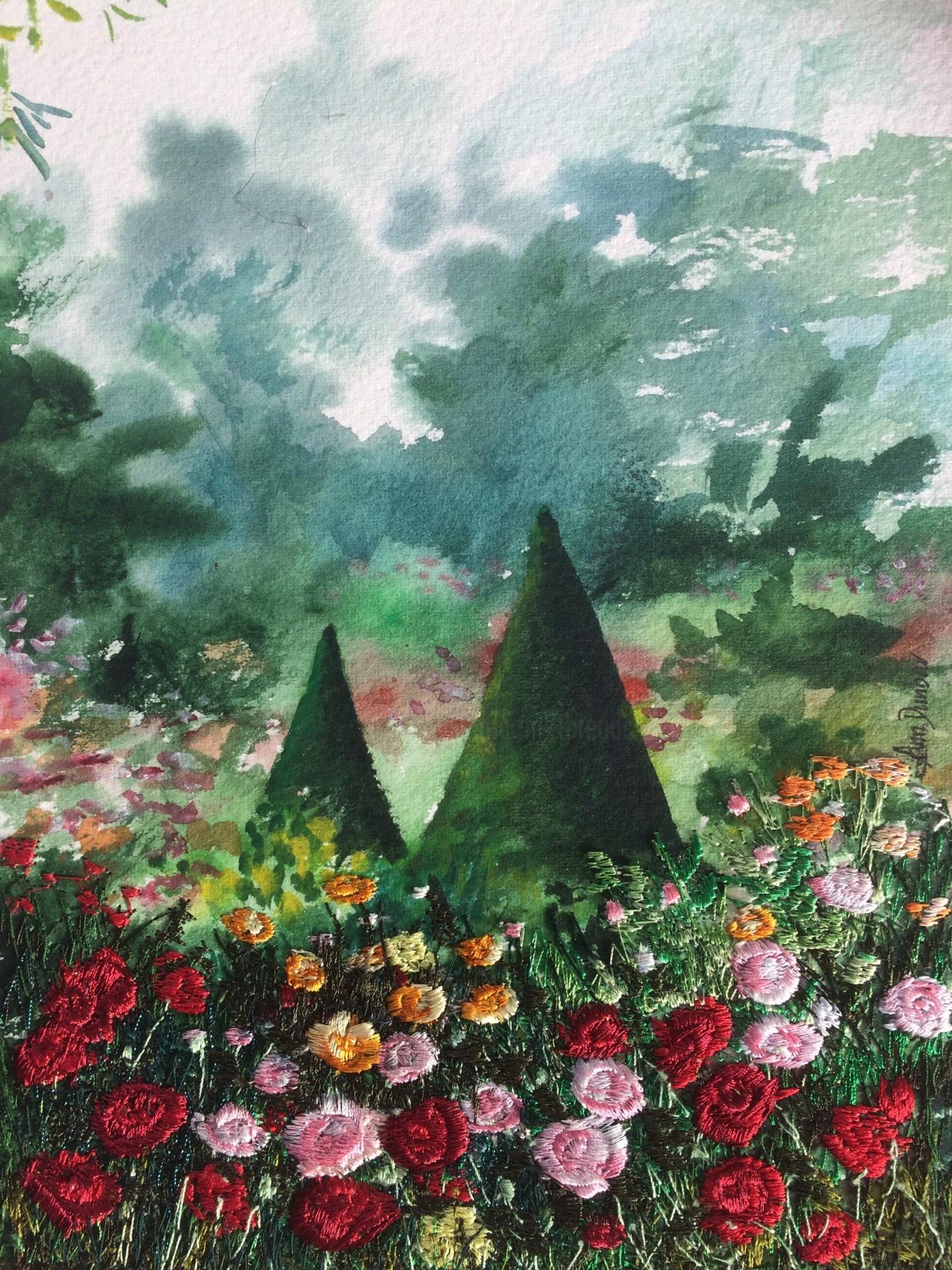 Ann Dunbar - Roses in a royal garden