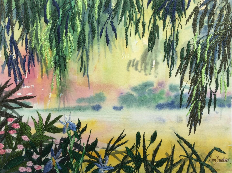 Ann Dunbar - Giverny Spring Lake View