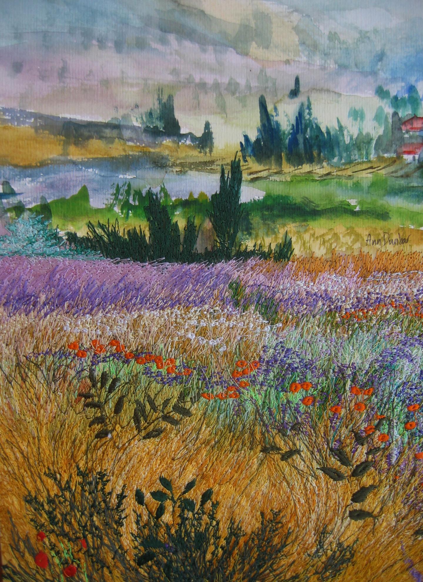 Ann Dunbar - Summer colours of Provençal landscape. 1