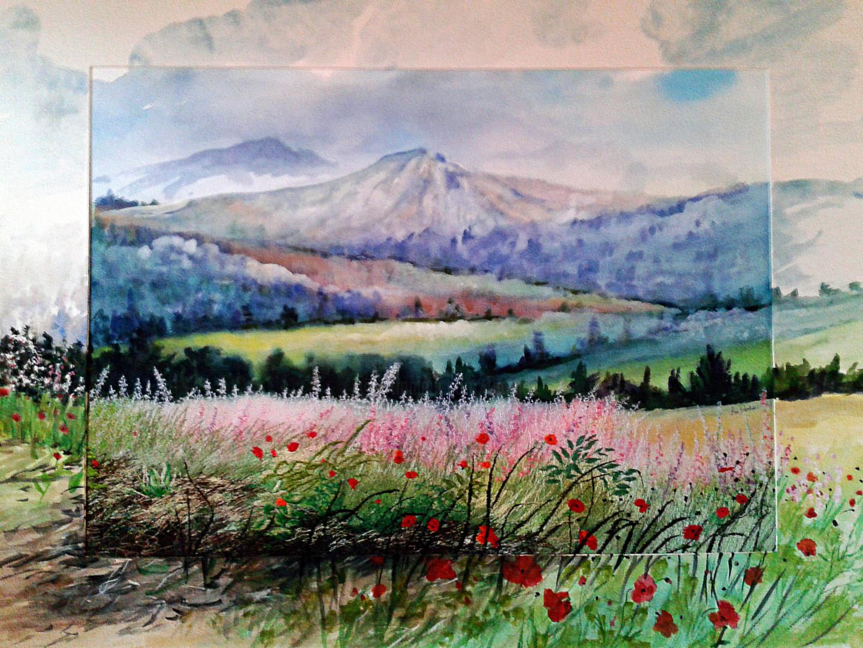 Ann Dunbar - Early morning mists Digne -les-bains- Provence