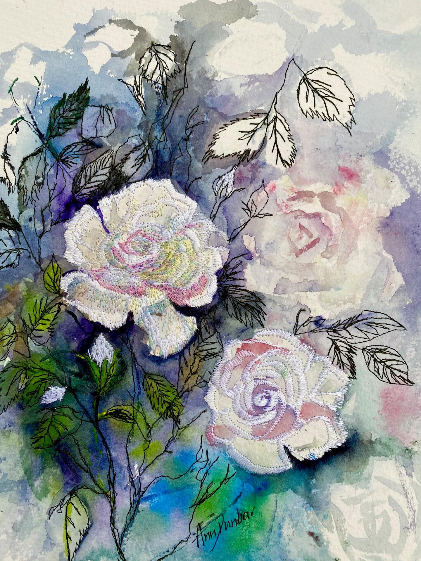 Ann Dunbar - Roses in hues of white