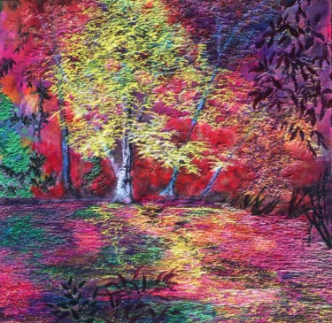 Painting, embroidery, impressionism, artwork by Ann Dunbar
